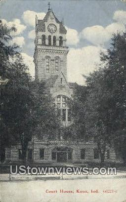 Court House, Knox - Indiana IN Postcard