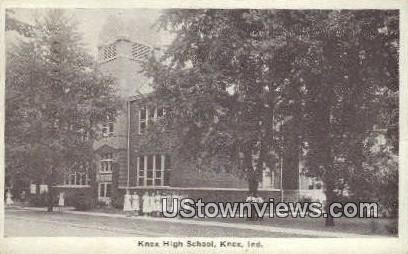 Knox High School - Indiana IN Postcard