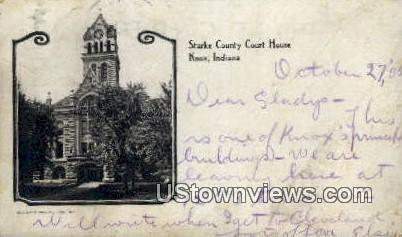 Starke County Court House - Knox, Indiana IN Postcard