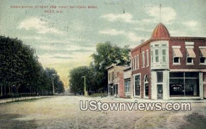 First National Bank - Knox, Indiana IN Postcard
