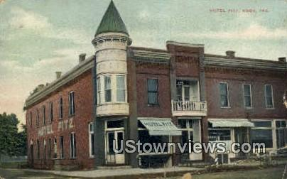Hotel Fitz - Knox, Indiana IN Postcard