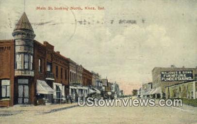 Main Street - Knox, Indiana IN Postcard