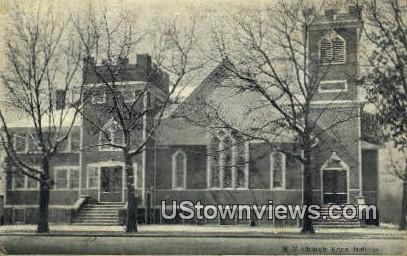 ME Church - Knox, Indiana IN Postcard