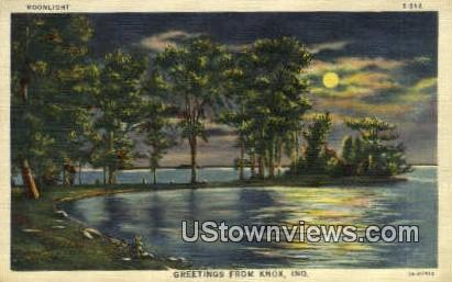 Greetings From - Knox, Indiana IN Postcard