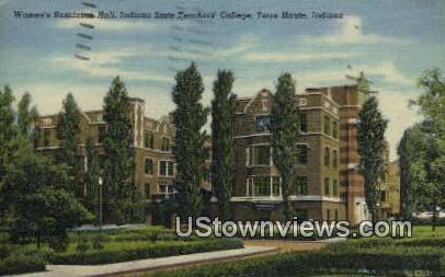 Women's Hall, Indiana State Teachers' College - Terre Haute Postcard