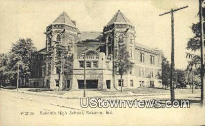 Kokomo High School - Indiana IN Postcard