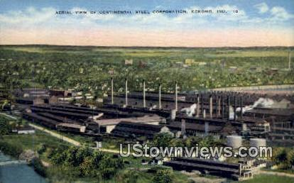Continental Steel Co, Linen - Kokomo, Indiana IN Postcard