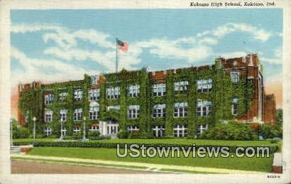 Kokomo High School - Indiana IN Postcard