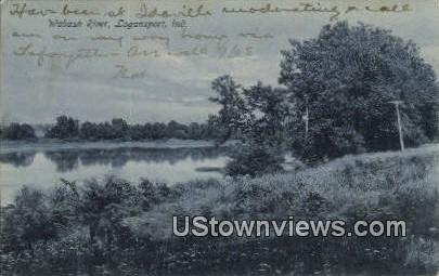 Wabash River - Logansport, Indiana IN Postcard