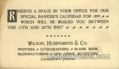 Wilson, Humphrey's & Co - Logansport, Indiana IN Postcard