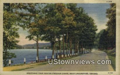 Shafer-Freeman Lakes - Logansport, Indiana IN Postcard