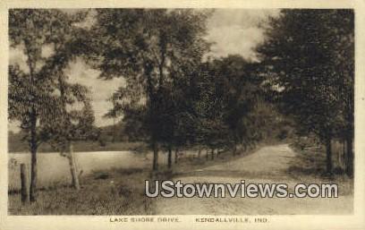 Lake Shore Drive - Kendallville, Indiana IN Postcard
