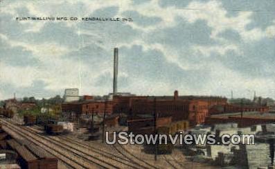 Flint Walling MFG Co - Kendallville, Indiana IN Postcard