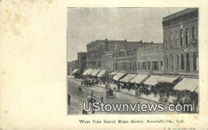 Main Street - Kendallville, Indiana IN Postcard