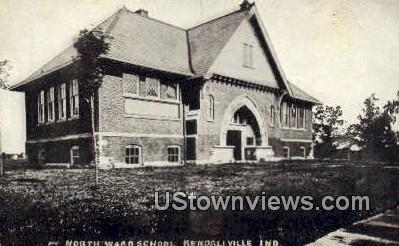 North Ward School - Kendallville, Indiana IN Postcard