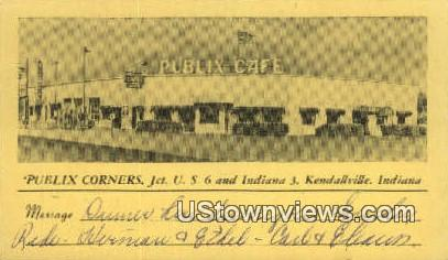 Publix Cafª - Kendallville, Indiana IN Postcard