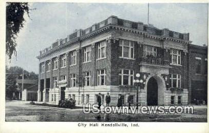 City Hall, Kendallville - Indiana IN Postcard