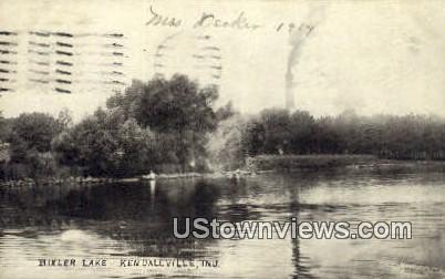Bixler Lake - Kendallville, Indiana IN Postcard