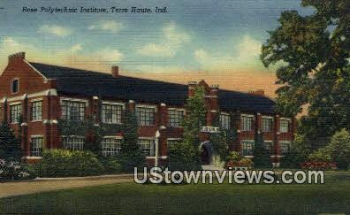 House Polytechnic Institute - Terre Haute, Indiana IN Postcard