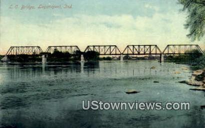 LC Bridge - Logansport, Indiana IN Postcard