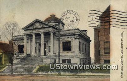 Carnegie Library - Logansport, Indiana IN Postcard