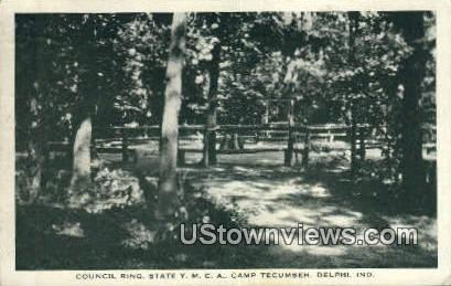 Council Ring, State YMCA Camp Tecumseh - Delphi, Indiana IN Postcard
