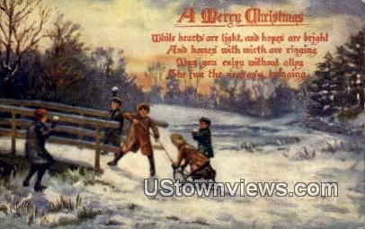Merry Christmas, Northern Wayne Bank - Misc, Indiana IN Postcard