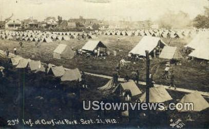 23rd Inf, Garfield Park, Sept 21, 1912, Real Photo - Indiana IN Postcard