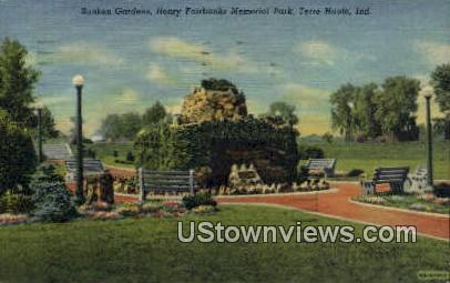 Henry Fairbanks Memorial Park - Terre Haute, Indiana IN Postcard