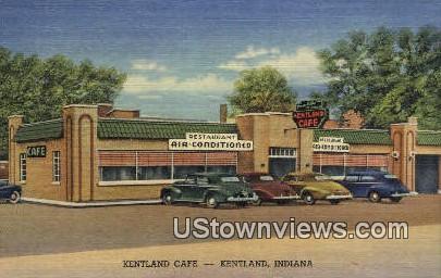 Kentland Cafª, Linen - Kendallville, Indiana IN Postcard