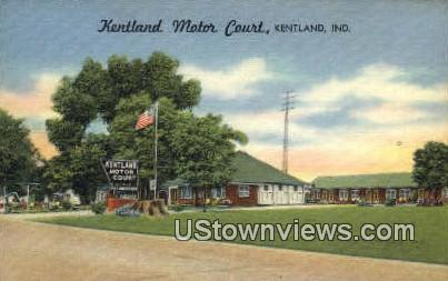 Kentland Motor Court - Indiana IN Postcard