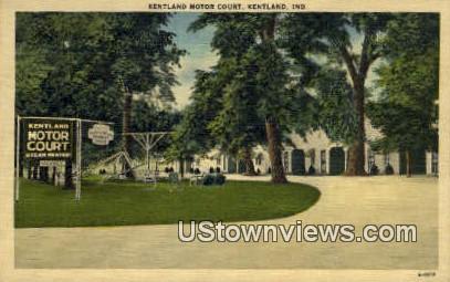 Kentland Motor Court, Linen - Indiana IN Postcard