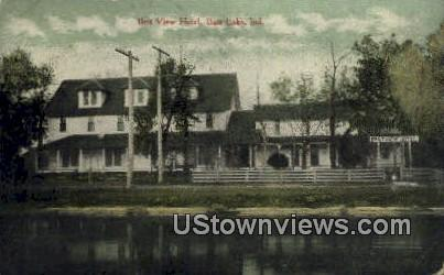 Best View Hotel - Bass Lake, Indiana IN Postcard