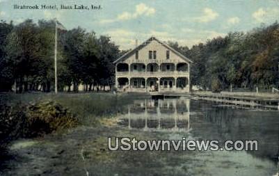 Brabrook Hotel - Bass Lake, Indiana IN Postcard