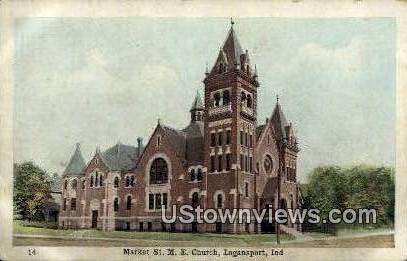 Market St. ME Church - Logansport, Indiana IN Postcard