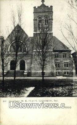 Broadway ME Church - Logansport, Indiana IN Postcard