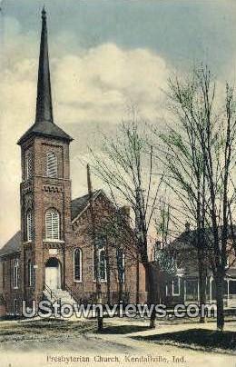 Presbyterian Church - Kendallville, Indiana IN Postcard