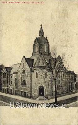 Ninth Street Christian Church - Logansport, Indiana IN Postcard
