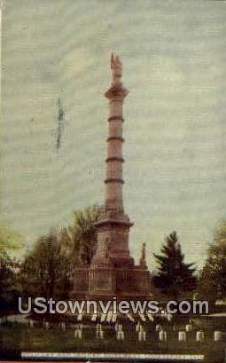 Soldiers' & Sailors' Monument - Logansport, Indiana IN Postcard