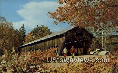Old Covered Bridge - Misc, Indiana IN Postcard