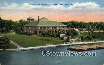 Marquette Park - Gary, Indiana IN Postcard