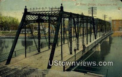 3rd Street Bridge - Logansport, Indiana IN Postcard