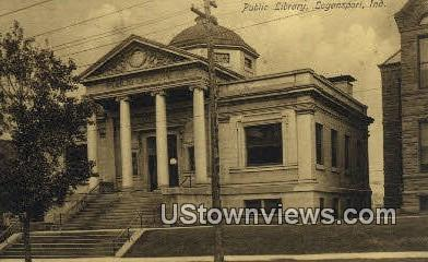 Public Library - Logansport, Indiana IN Postcard