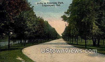 Riverside Park  - Logansport, Indiana IN Postcard