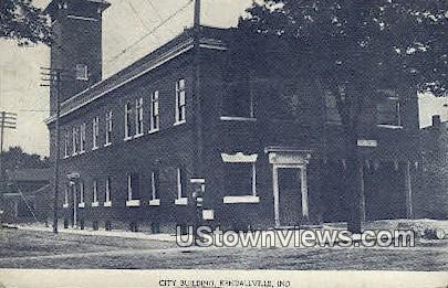 City Bldg, Kendallville - Indiana IN Postcard