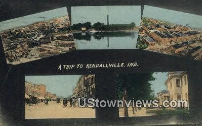 Kendallville, Indiana, IN, Postcard