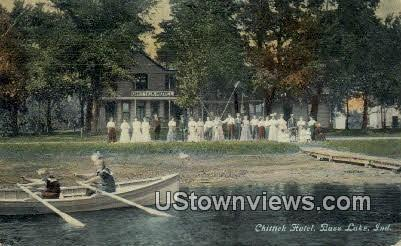 Chittick Hotel - Bass Lake, Indiana IN Postcard