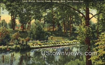 Izaak Walkton Rearing Ponds, Deming Park - Terre Haute, Indiana IN Postcard