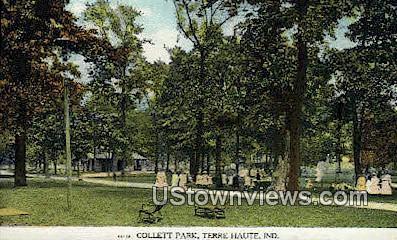 Collett Park - Terre Haute, Indiana IN Postcard