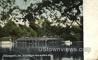 Broad Ripple Park - Indianapolis Postcards, Indiana IN Postcard